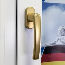 Дизайнерская оконная ручка Roto Line цвет: матовое золото