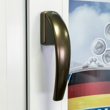 Дизайнерская оконная ручка Roto Swing цвет: бронза