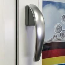 Дизайнерская оконная ручка Roto Swing цвет: серебро